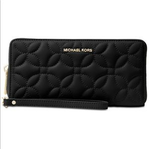 Michael Kors Quilted Floral Travel Wallet